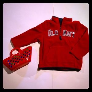 Red Fleece Old Navy Pull over